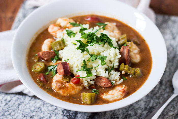 Shrimp, Andouille, and Okra Gumbo