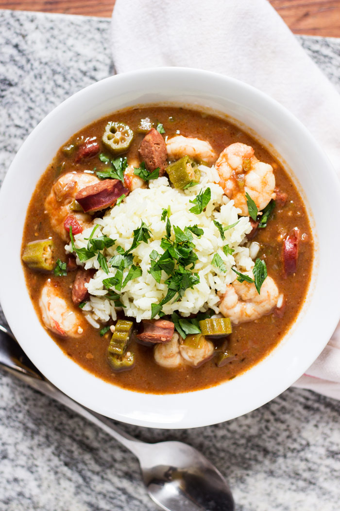 This Shrimp, Andouille Sausage, and Okra Gumbo is like a taste of New ...