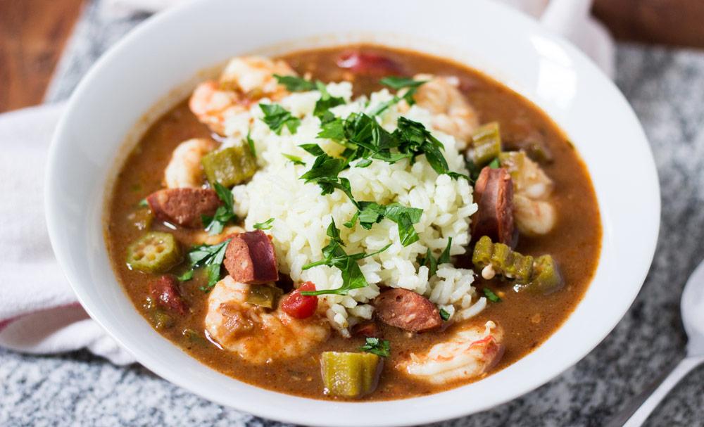 Shrimp, Andouille, and Okra Gumbo | Recipes | NoshOn.It