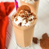 Pumpkin Spice Malt Milkshake with Gingersnap Crumble