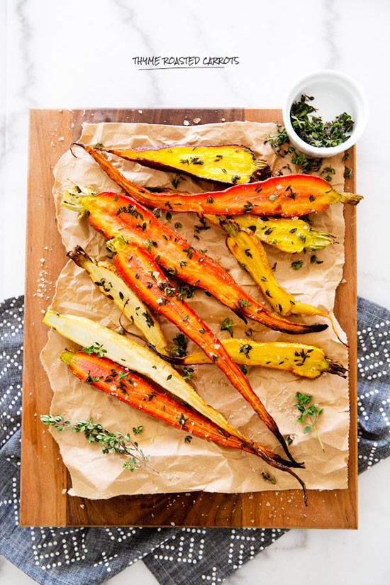 Thyme Roasted Heirloom Carrots