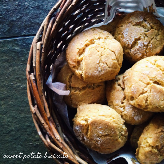 Sweet Potato Biscuits (v)