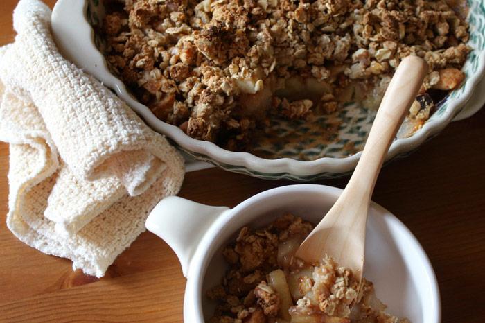 Gluten Free Pear Apple Crisp