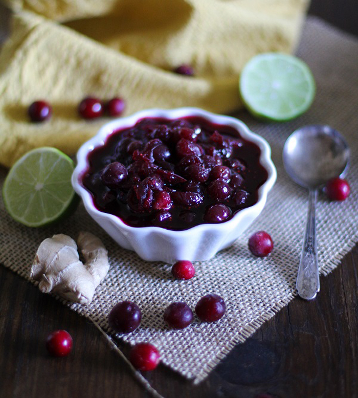 Cranberry Sauce with Ginger and Maple