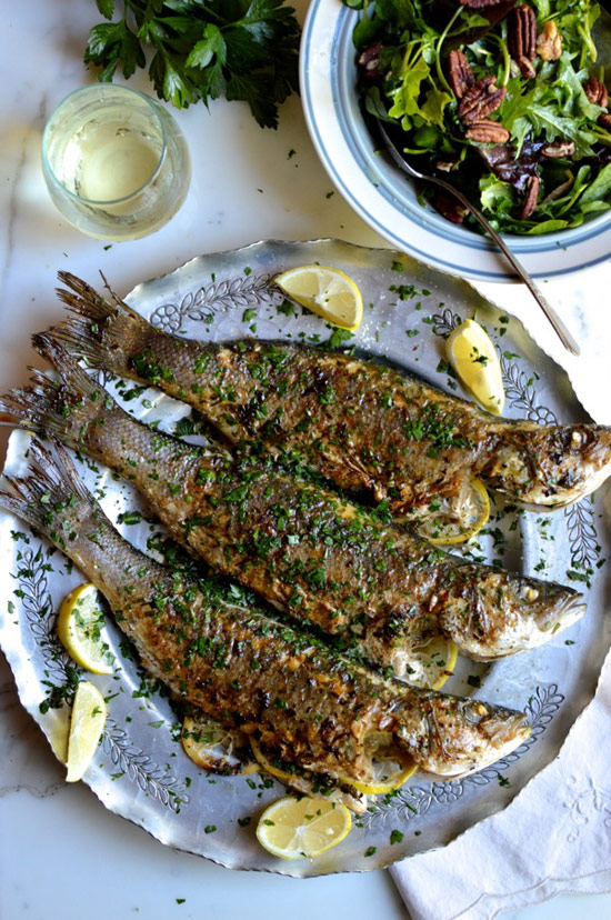 Lemon Soy Whole-Roasted Branzino