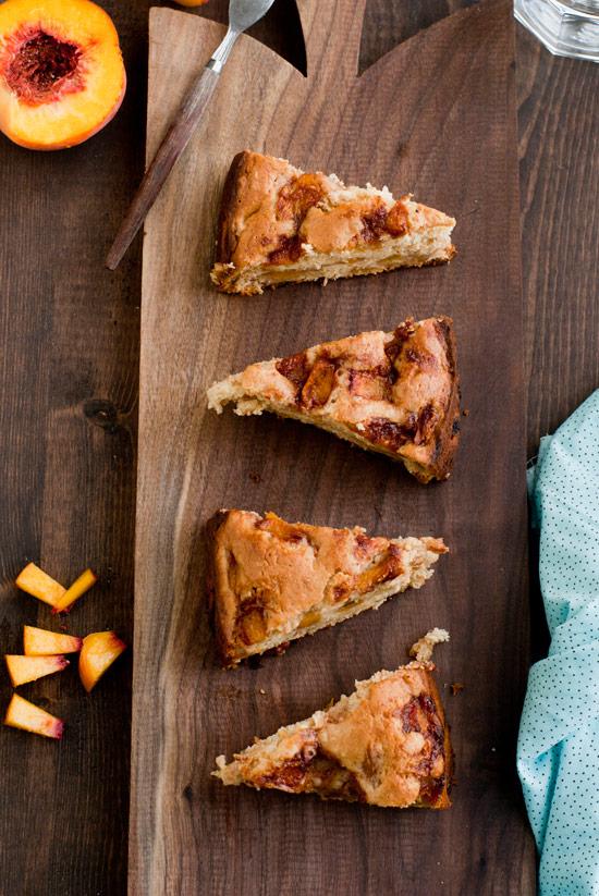 Peachy Cinnamon Coffee Cake