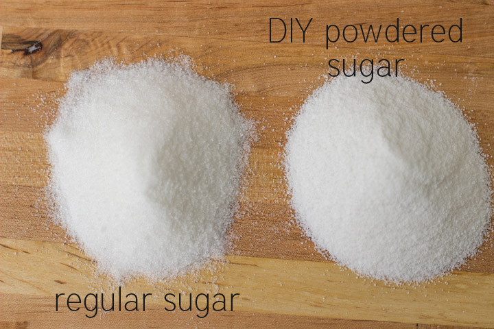 How to make powdered sugar in a food processor
