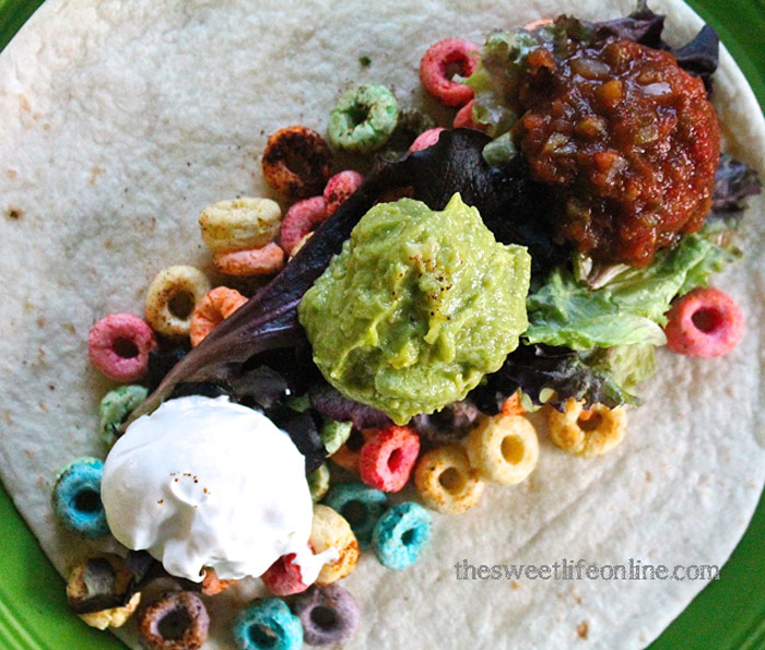 Fruit Loops Tacos and 14 other creative uses for cereal