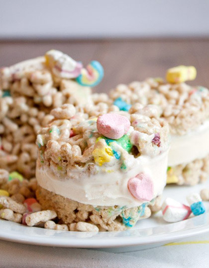 Lucky Charms Ice Cream Sandwiches and 14 other creative uses for cereal