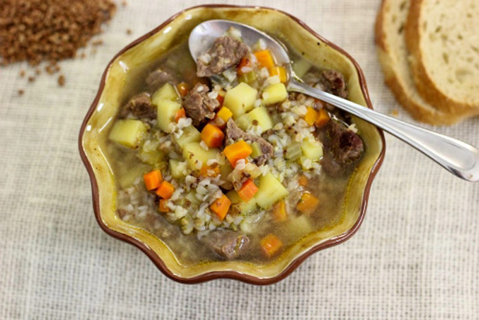 Beef and Buckwheat Soup and 12 other soups & stew with whole grains