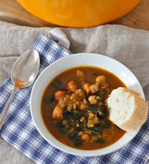 Freekeh Soup with Sweet Potato and Kale and 12 other soups & stew with whole grains