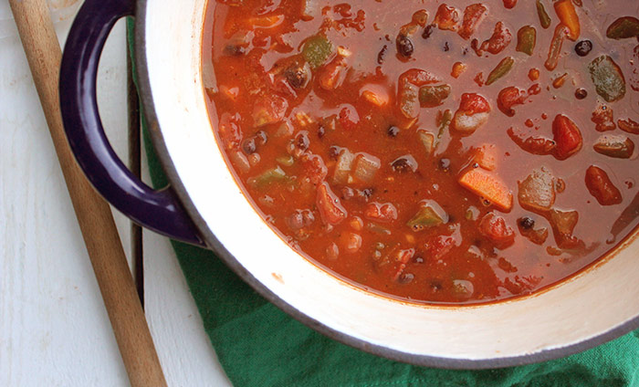 Black Bean and Wheatberry Chili and 12 other soups & stew with whole grains
