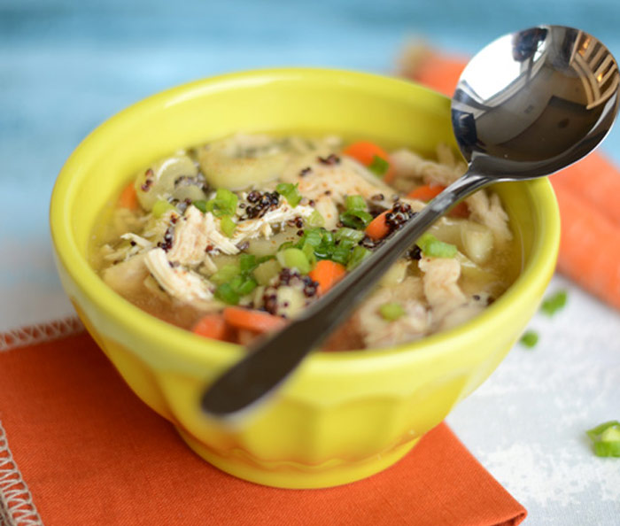 Chicken Quinoa Soup and 12 other soups & stew with whole grains