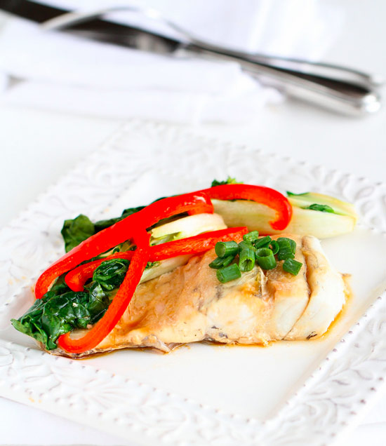 Asian-Style Barramundi in Foil Packets