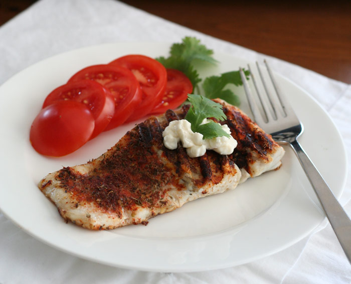 Blackened Barramundi on a Panini Press