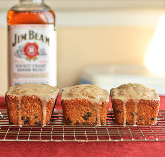 Bourbon Soaked Orange Loaf Cake with Currants