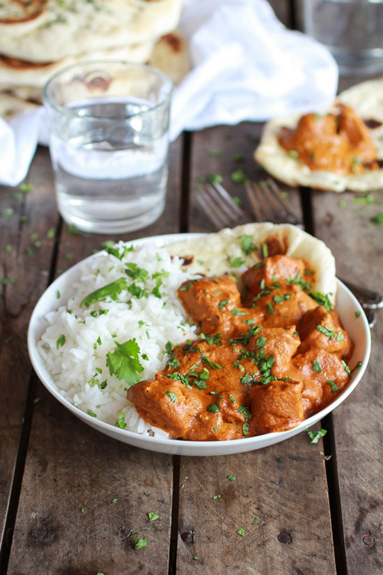 Easier Healthier Crockpot Butter Chicken