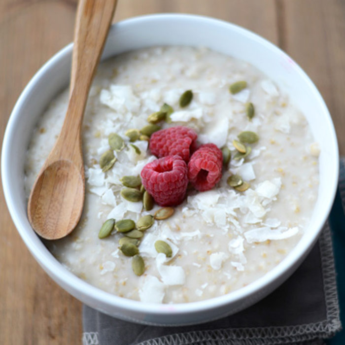 Slow Cooker Creamy Coconut Steel Cut Oats
