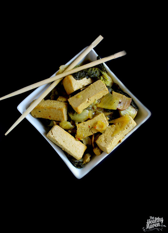 Slow Cooker Coconut Basil Tofu