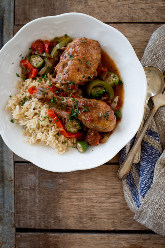 Slow Cooker Chicken and Okra