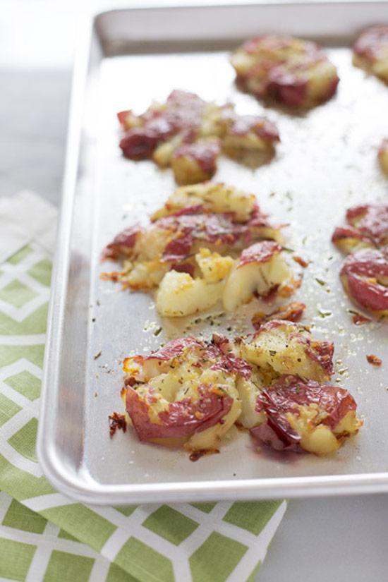 Sides: Rosemary Garlic Smashed Red Potatoes