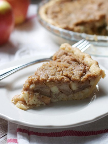 Brown Butter Apple Custard Pie