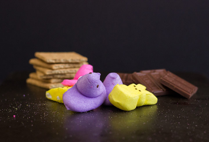 Ingredients for Peeps S'Mores
