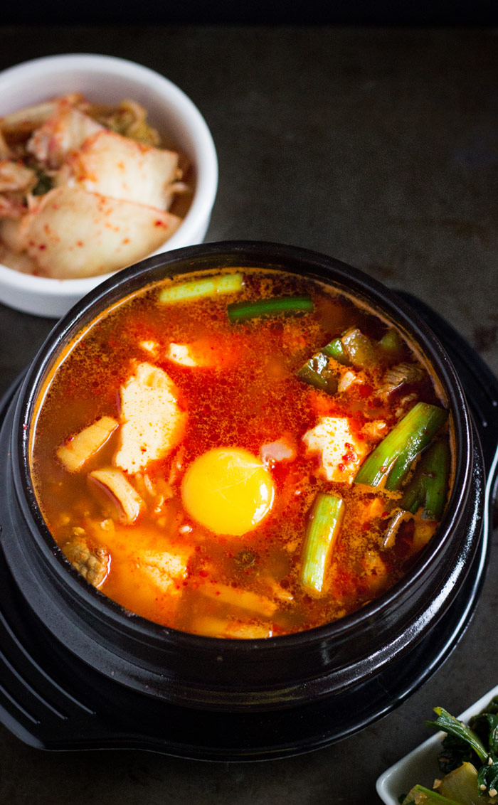 Soondubu Jjigae (Korean Soft Tofu Stew with Seafood)