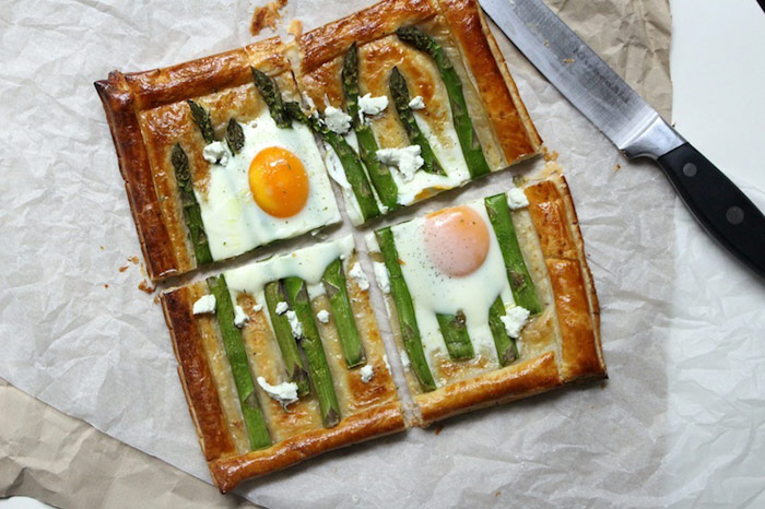 Asparagus & Egg Galette with Dill Chèvre