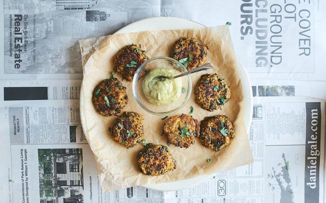 Purple Kale, Cilantro, and Spaghetti Squash Cakes plus 8 other gluten free spaghetti squash recipes