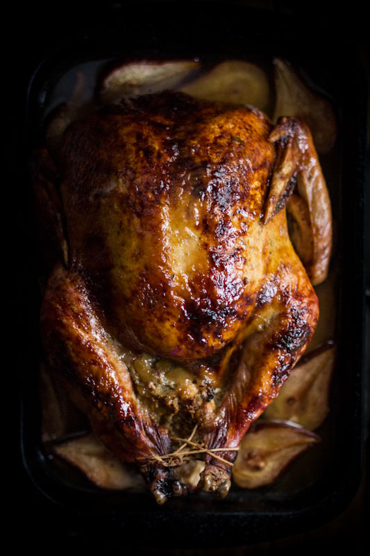 Roast Turkey with Pear Glaze and Pear & Sage Stuffing from Adventures in Cooking plus 9 other Thanksgiving turkey recipes