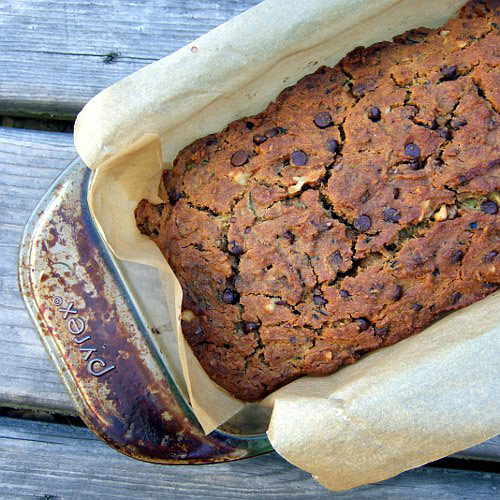 Zucchini Bread with Chocolate Chips (Vegan and Gluten Free)