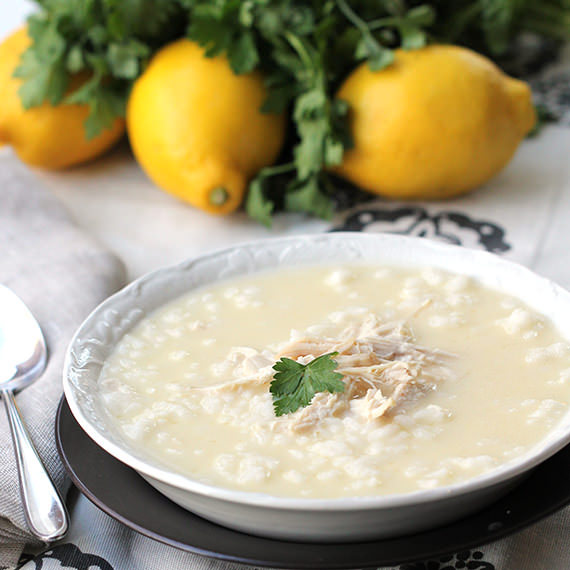 Avgolemono (Greek Lemon Chicken Soup) plus 10 other chicken soup ...
