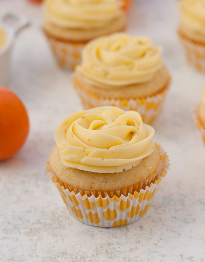 Oh My Darlin' Clementine Cupcakes with Clementine Buttercream