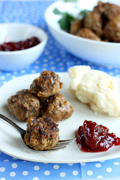 Traditional Swedish Meatballs plus 25 other Christmas recipes