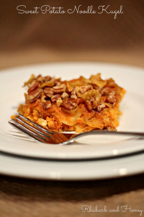 Sweet Potato Noodle Kugel plus other Thanksgivukkah recipes