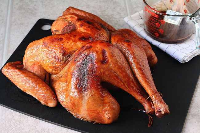 Butterflied Turkey with Cranberry Molasses Glaze from Tracey's Culinary Adventures plus 9 other Thanksgiving turkey recipes
