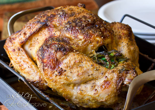 Asian Spiced Turkey from A Spicy Perspective plus 9 other Thanksgiving turkey recipes