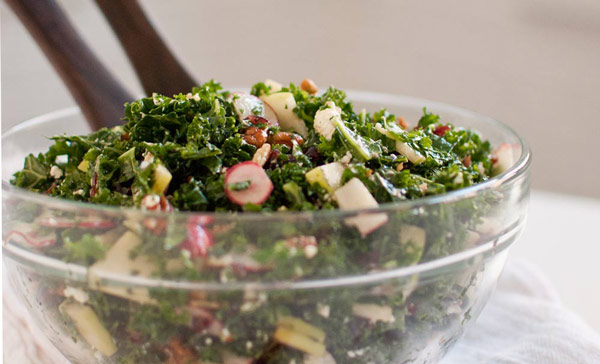 Kale, Apples, Cranberries and Pecans Salad Recipe
