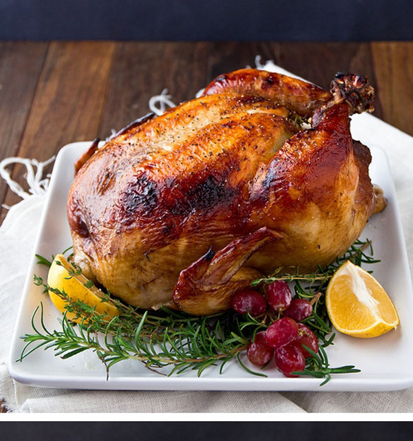 Sweet Tea and Citrus Brined Turkey from Confections of a Foodie Bride plus 9 other Thanksgiving turkey recipes
