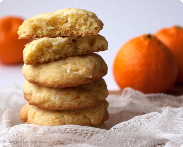 Clementine White Chocolate Cookies