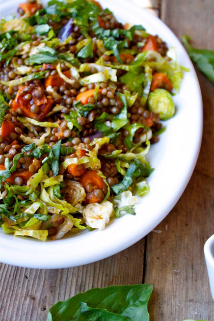 French Lentil Vegetable Salad Recipe