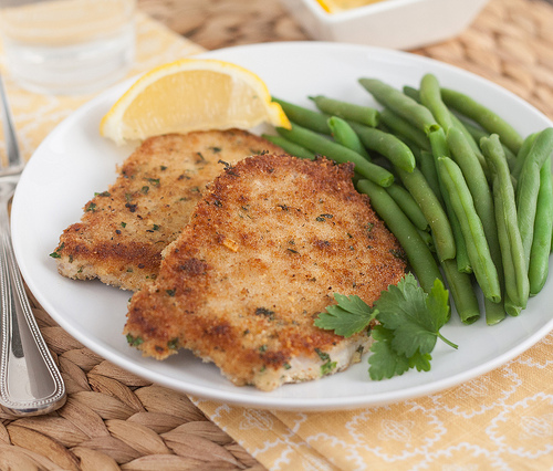 Pork Schnitzel from Tracey's Culinary Adventures