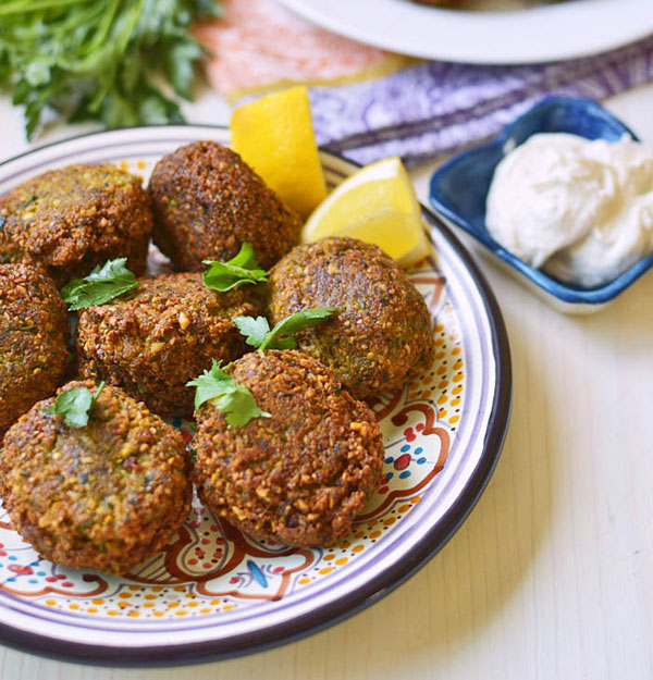 Homemade Falafel with Tahini Yogurt from Little Ferraro Kitchen