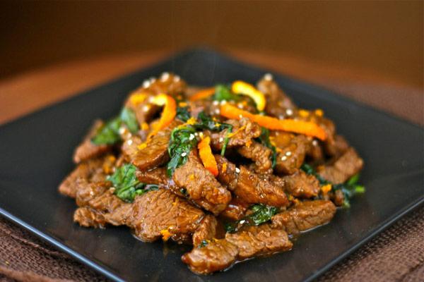 Spicy Clementine Beef Stir Fry