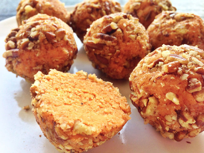 Sweet Potato Pie Doughnut Holes plus other Thanksgivukkah recipes