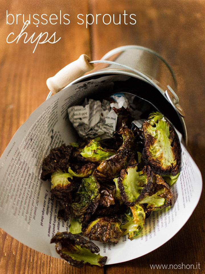 """Brussels Sprouts """"Chips"""" - a healthy, low-carb, gluten-free, vegetarian, and delicious snack!"""