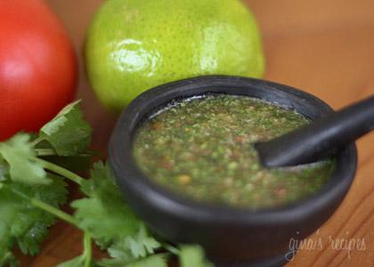 Homemade Colombian Aji Picante from Skinny Taste