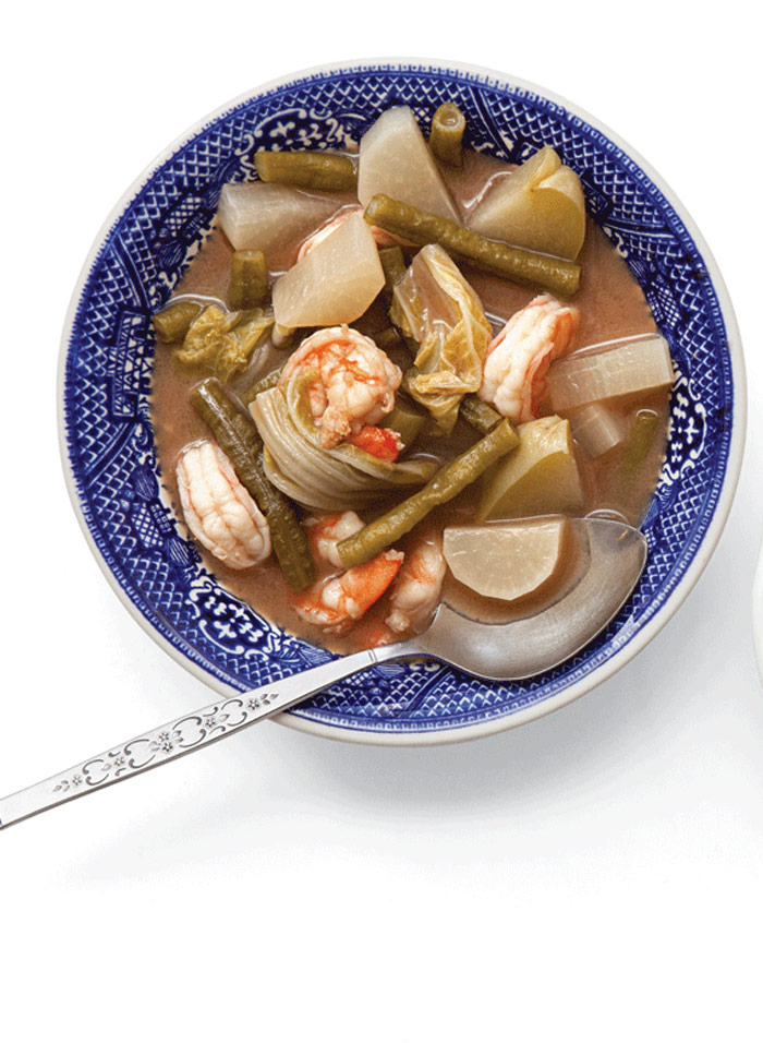 Thai Sour Curry with Shrimp from Saveur
