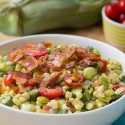 Summer Succotash with Corn, Bacon, Lima Beans, and Okra - the quintessential summer side dish!